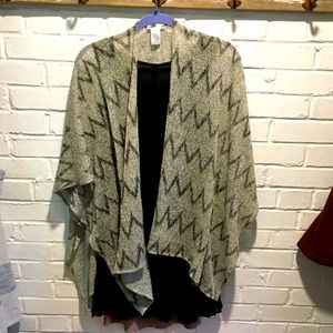 Easley black and white knit chevron Shaw